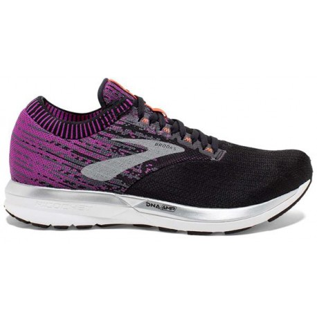 RUNNING SHOES BROOKS RICOCHET BLACK AND PURPLE FOR WOMEN'S