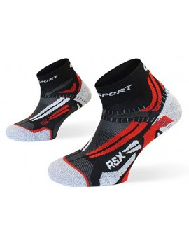 BV SPORT RSX EVO SOCKS RED, GREY AND BLACK UNISEX