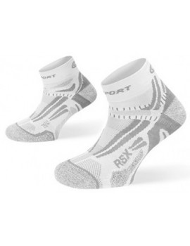 BV SPORT RSX EVO SOCKS WHITE AND GREY UNISEX