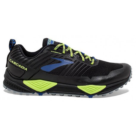 TRAIL RUNNING SHOES BROOKS CASCADIA 13 BLACK AND BLUE FOR MEN'S