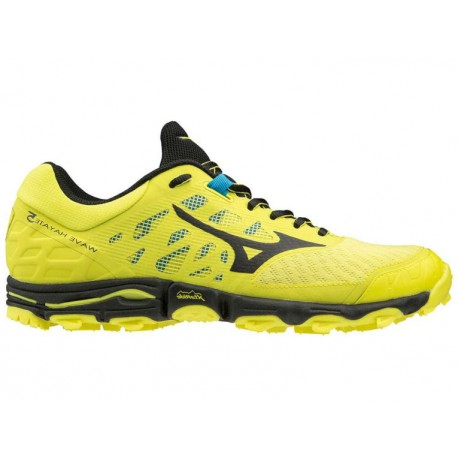 TRAIL RUNNING SHOES MIZUNO WAVE HAYATE 5 YELLOW AND BLACK FOR MEN'S