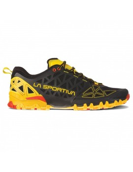 TRAIL RUNNING SHOES LA SPORTIVA BUSHIDO 2 BLACK AND YELLOW FOR MEN'S