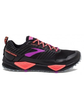TRAIL RUNNING SHOES BROOKS CASCADIA 13 BLACK AND PINK FOR WOMEN'S