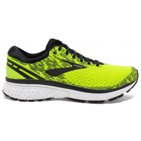 RUNNING SHOES BROOKS GHOST 11 YELLOW AND BLACK FOR MEN'S