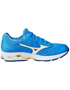 RUNNING SHOES MIZUNO WAVE RIDER 22 BLUE AND YELLOW FOR WOMEN'S