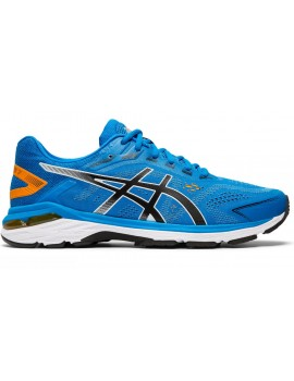 RUNNING SHOES ASICS GT 2000 V7 BLUE AND ORANGE FOR MEN'S