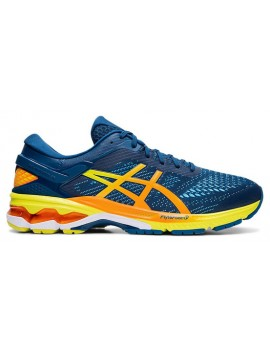 RUNNING SHOES ASICS GEL KAYANO 26 BLUE AND ORANGE FOR MEN'S