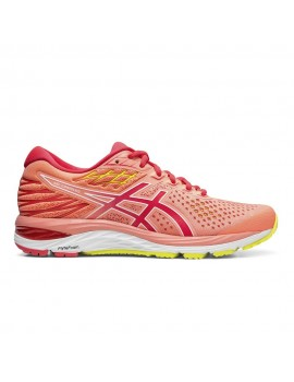 RUNNING SHOES ASICS GEL CUMULUS 21 CORAL AND PINK FOR WOMEN'S