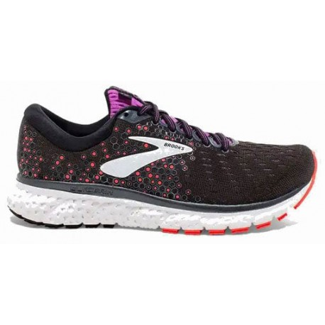 RUNNING SHOES BROOKS GLYCERIN 17 BLACK AND PUPLE FOR WOMEN'S
