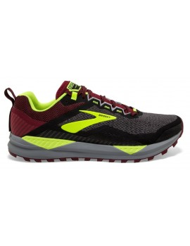 TRAIL RUNNING SHOES BROOKS CASCADIA 14 BLACK AND RED FOR MEN'S
