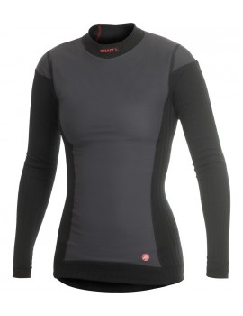 CRAFT ACTIVE EXTREME WINDSTOPPER LONG SLEEVE UNDERWEAR BLACK FOR WOMEN'S