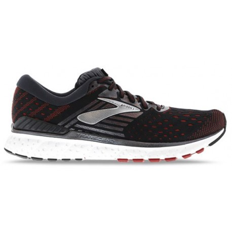 RUNNING SHOES BROOKS TRANSCEND 6 BLACK AND RED FOR MEN'S