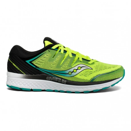 RUNNING SHOES SAUCONY GUIDE ISO 2 YELLOW AND BLACK FOR MEN'S