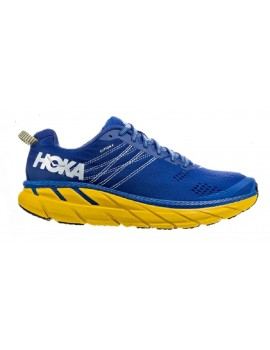 RUNNING SHOES HOKA ONE ONE CLIFTON 6 BLUE AND YELLOW FOR MEN'S