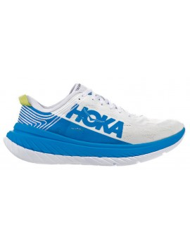 RUNNING SHOES HOKA ONE ONE CARBON X WHITE AND BLUE FOR WOMEN'S