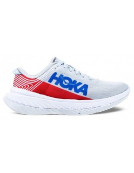 RUNNING SHOES HOKA ONE ONE CARBON X WHITE GREY AND RED FOR WOMEN'S