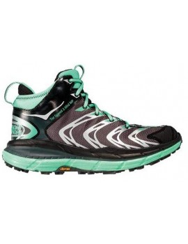 TRAIL RUNNING SHOES HOKA ONE ONE TOR SPEED 2 MID WP BLACK AND GREEN FOR WOMEN'S