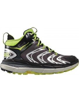 TRAIL RUNNING SHOES HOKA ONE ONE TOR SPEED 2 MID WP BLACK AND GREEN FOR MEN'S