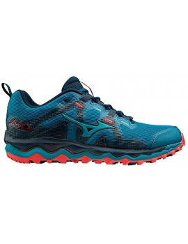 TRAIL RUNNING SHOES MIZUNO WAVE MUJIN 6 BLUE FOR MEN'S