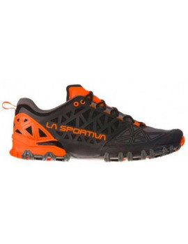 TRAIL RUNNING SHOES LA SPORTIVA BUSHIDO 2 BLACK AND ORANGE FOR MEN'S
