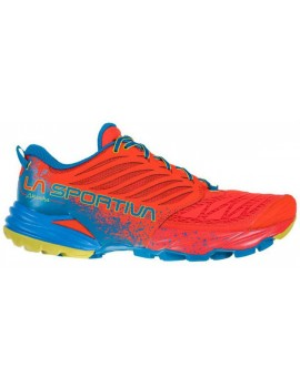 TRAIL RUNNING SHOES LA SPORTIVA AKASHA POPPY AND NEPTUNE FOR MEN'S