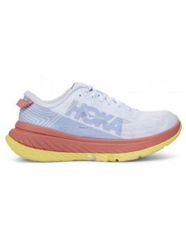 RUNNING SHOES HOKA ONE ONE CARBON X WHITE AND ORANGE FOR WOMEN'S
