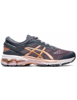 RUNNING SHOES ASICS GEL KAYANO 26 GREY AND PINK FOR WOMEN'S