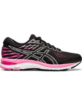RUNNING SHOES ASICS GEL CUMULUS 21 BLACK AND PINK FOR WOMEN'S