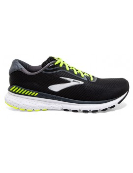 RUNNING SHOES BROOKS ADRENALINE GTS 20 BLACK AND YELLOW FOR MEN'S