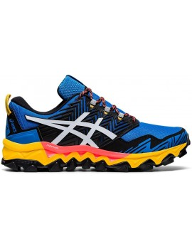 TRAIL RUNNING SHOES ASICS GEL FUJITRABUCO 8 BLUE AND YELLOW FOR MEN'S