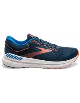 RUNNING SHOES BROOKS TRANSCEND 7 BLUE AND ORANGE FOR WOMEN'S