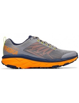 TRAIL RUNNING SHOES HOKA CHALLENGER ATR 5 GRAY AND ORANGE FOR MEN'S