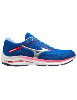 RUNNING SHOES MIZUNO WAVE RIDER 24 BLUE AND PINK FOR WOMEN'S