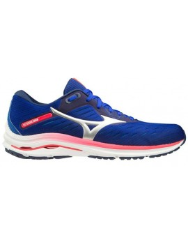 RUNNING SHOES MIZUNO WAVE RIDER 24 BLUE AND RED FOR MEN'S