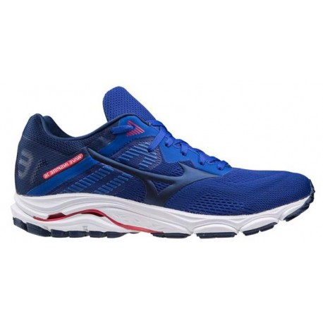 RUNNING SHOES MIZUNO WAVE INSPIRE 16 BLUE AND RED FOR MEN'S