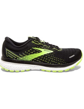 RUNNING SHOES BROOKS GHOST 13 BLACK AND YELLOW FOR MEN'S