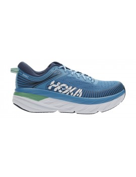 RUNNING SHOES HOKA ONE ONE BONDI 7 BLUE AND GREEN FOR MEN'S