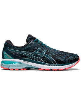 RUNNING SHOES ASICS GT 2000 V8 BLACK AND BLUE FOR MEN'S