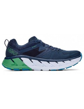 RUNNING SHOES HOKA ONE ONE GAVIOTA 2 BLUE AND GREEN FOR MEN'S