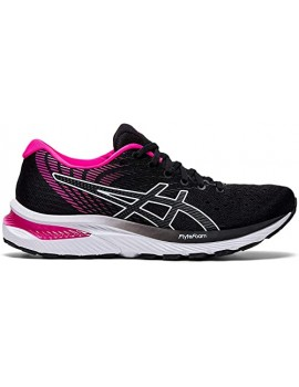 RUNNING SHOES ASICS GEL CUMULUS 22 BLACK AND PINK FOR WOMEN'S