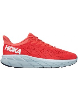 RUNNING SHOES HOKA ONE ONE CLIFTON 7 PINK AND GREY FOR WOMEN'S