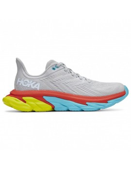 RUNNING SHOES HOKA ONE ONE CLIFTON EDGE GREY, BLUE AND YELLOW FOR MEN'S