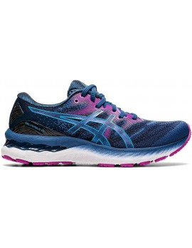 RUNNING SHOES ASICS GEL NIMBUS 23 BLUE AND PURPLE FOR WOMEN'S