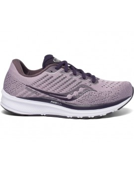 RUNNING SHOES SAUCONY RIDE 13 GREY AND PURPLE FOR WOMEN'S