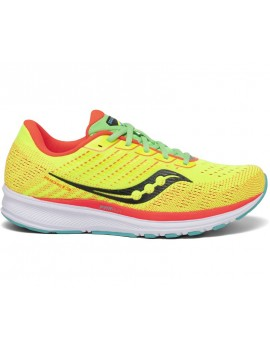 RUNNING SHOES SAUCONY RIDE 13 YELLOW FOR WOMEN'S