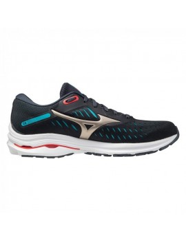 RUNNING SHOES MIZUNO WAVE RIDER 24 BLACK FOR MEN'S