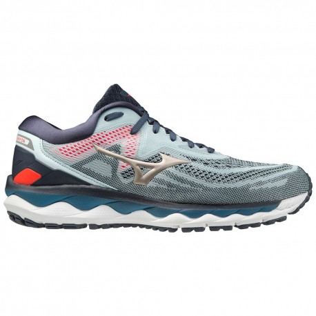 RUNNING SHOES MIZUNO WAVE SKY 4 BLUE FOR MEN'S