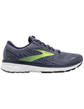 RUNNING SHOES BROOKS GHOST 13 GREY AND YELLOW FOR MEN'S