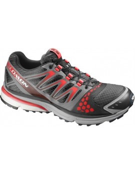 TRAIL RUNNING SHOES SALOMON CROSSMAX GUIDANCE RED AND BLACK FOR MEN'S