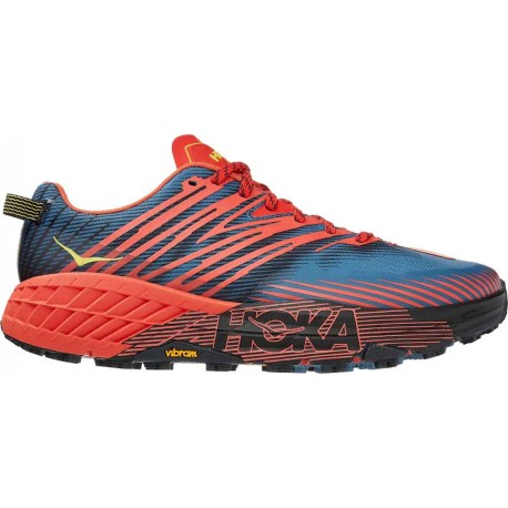 TRAIL RUNNING SHOES HOKA ONE ONE SPEEDGOAT 4 ORANGE AND BLUE FOR MEN'S